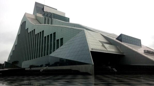 Die neue, noch nicht eröffnete Nationalbibliothek