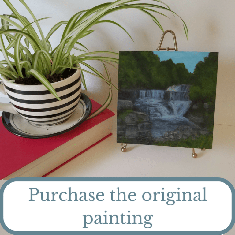Purchase the original painting graphic - Seneca Mill Falls by Laura Jaen Smith