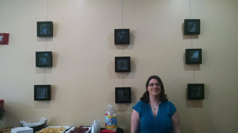 Waterfalls of the Finger Lakes solo exhibition Laura Jaen Smith First Heritage Credit Union Market Street Corning NY.