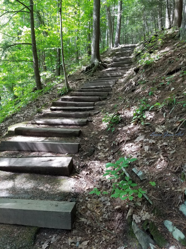 Photo of trail Robert H Treman State Park in Ithaca NY by Laura Jaen Smith.