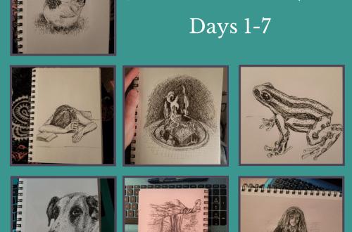 Inktober 2018 Day 1-7 blog cover