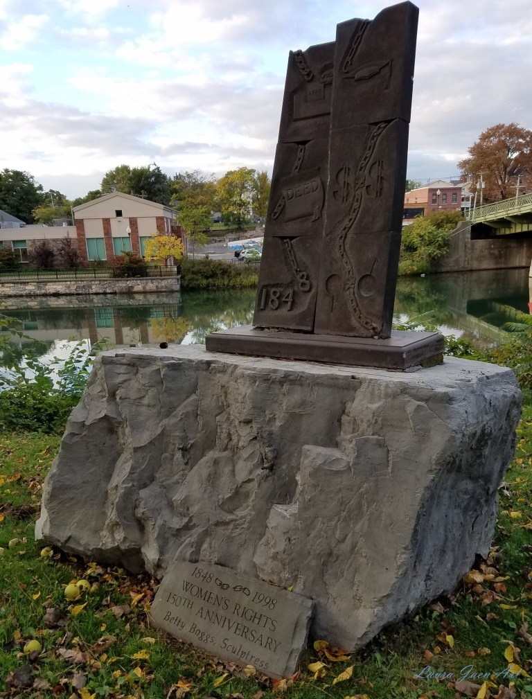 """Photo of """"The Status of Women"""" by Betty Boggs Ludovico Sculpture Trail Seneca Falls NY by Laura Jaen Smith"""