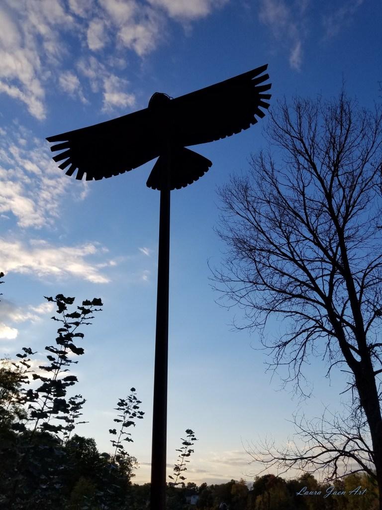 "Photo of ""Freedom Spirit"" by Carol Adamec Ludovico Sculpture Trail Seneca Falls NY by Laura Jaen Smith"