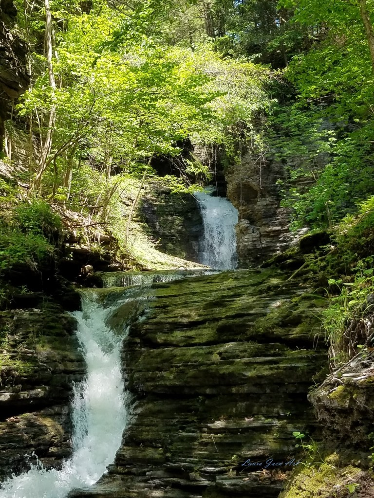 Photo of Deckertown Falls in Montour Falls NY by Laura Jaen Smith