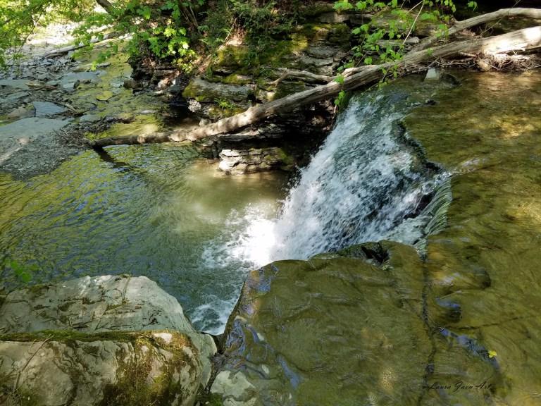 Photo of Twin Falls Lower Falls in Watkins Glen by Laura Jaen Smith