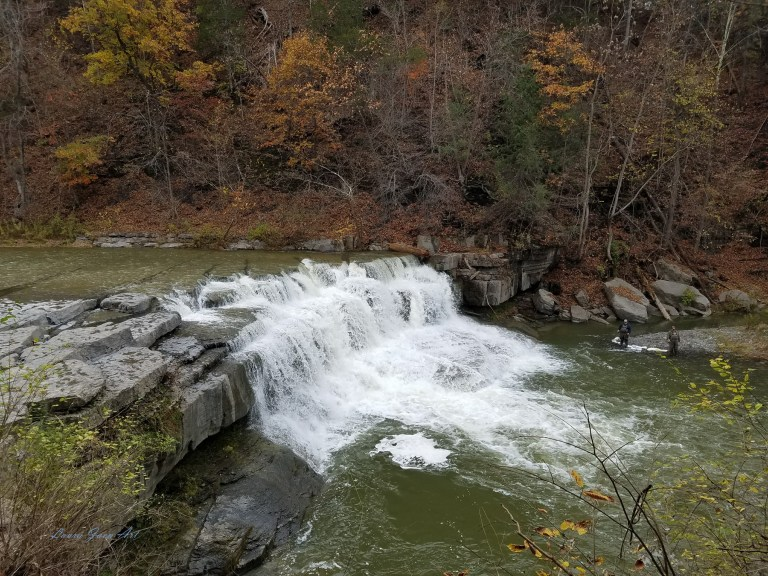 Photo of Lower Taughannock Falls in autumn by Laura Jaen Smith