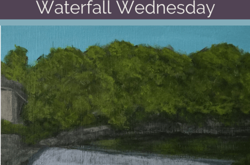 Lower Falls Genesee River Waterfall Wednesday blog cover