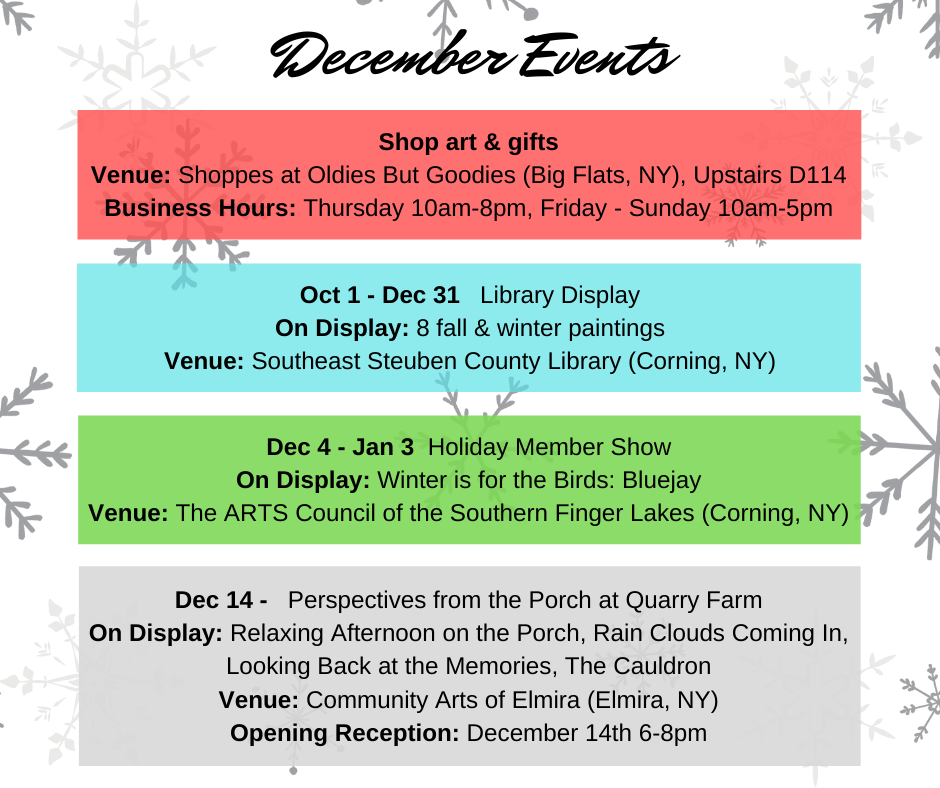 december events graphic