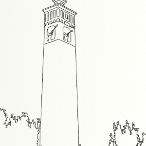 Little Joe Tower outline coloring page by Laura Jaen Smith