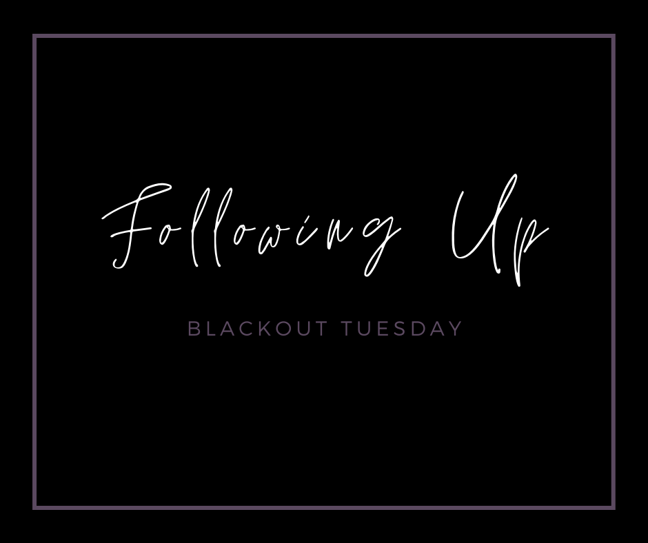 Following up blackout tuesday blog cover