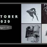Inktober 2020: Days 1-4