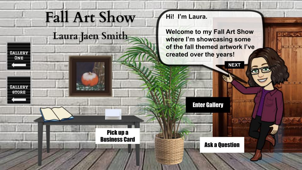 Virtual fall art show 2 interactive blog cover