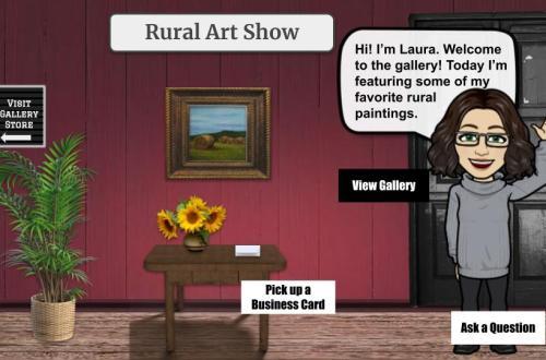 Rural art show interactive art gallery blog cover