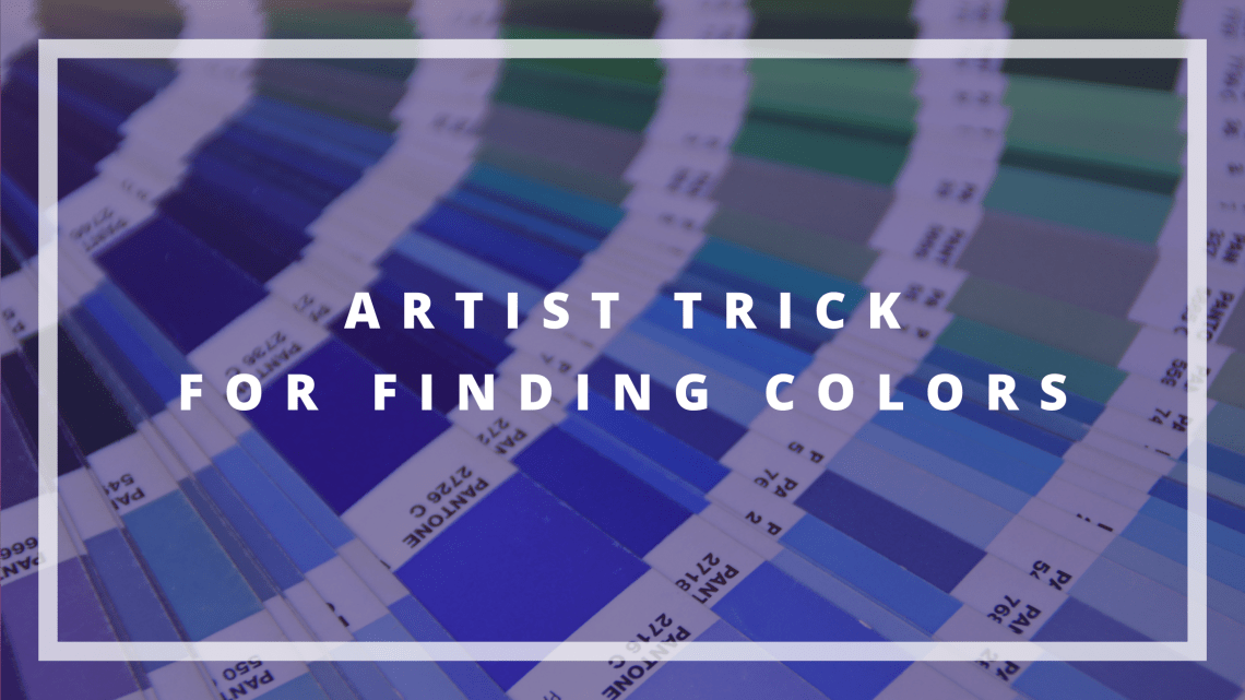artist trick for finding colors blog cover