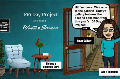 100 day project collection 1: winter scenes interactive art show blog cover