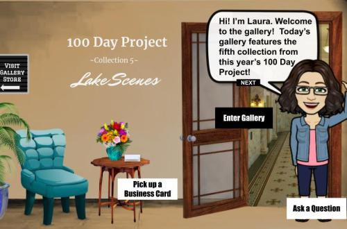 100 day project collection 5: lake scenes interactive art show blog cover