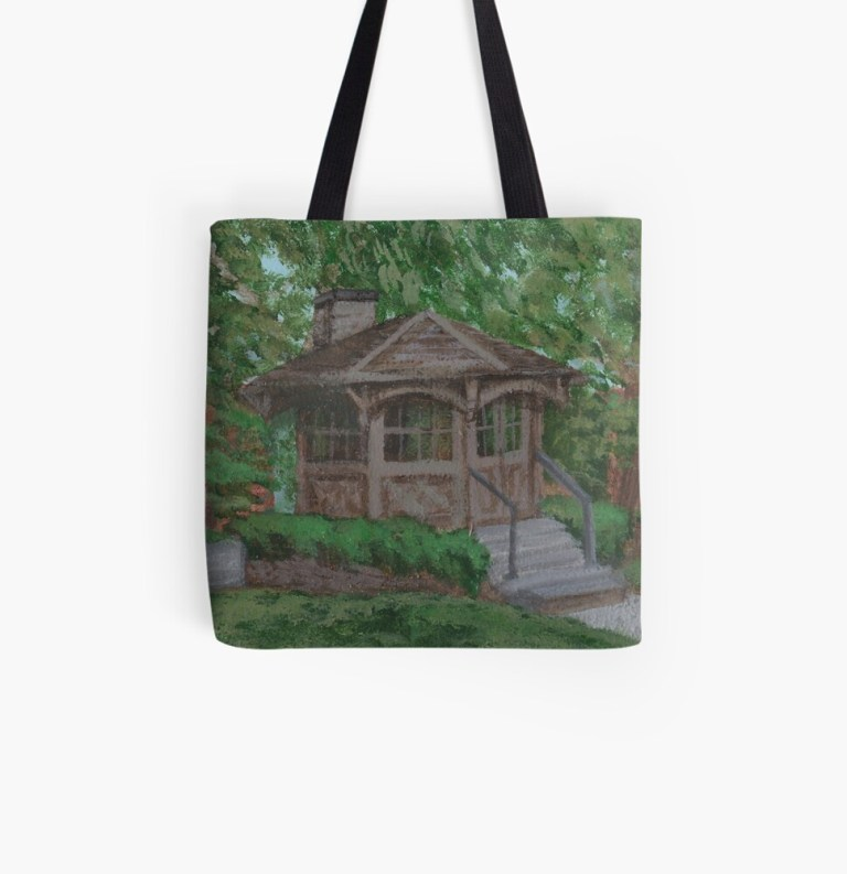 Tote bag with image of Mark Twain Study painting by Laura Jaen