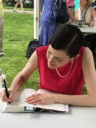 Signing books at Gaithersburg Book Festival