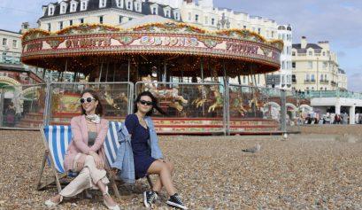 Laura Kassab e Lorrine Mondin em Brighton Inglaterra