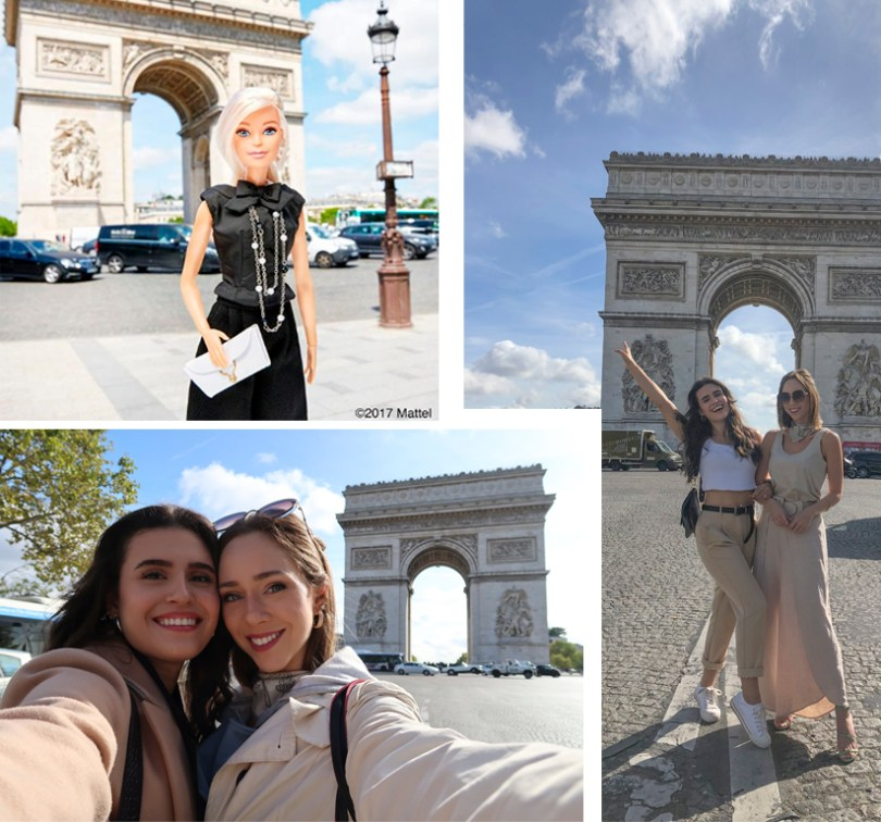 Laura Kassab e Lorrine Mondin e Barbie em Paris
