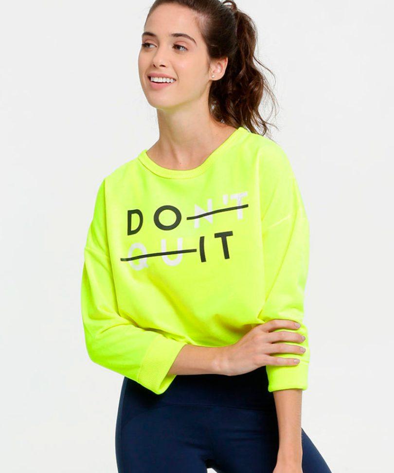 Blusa fitness verde neon Do It
