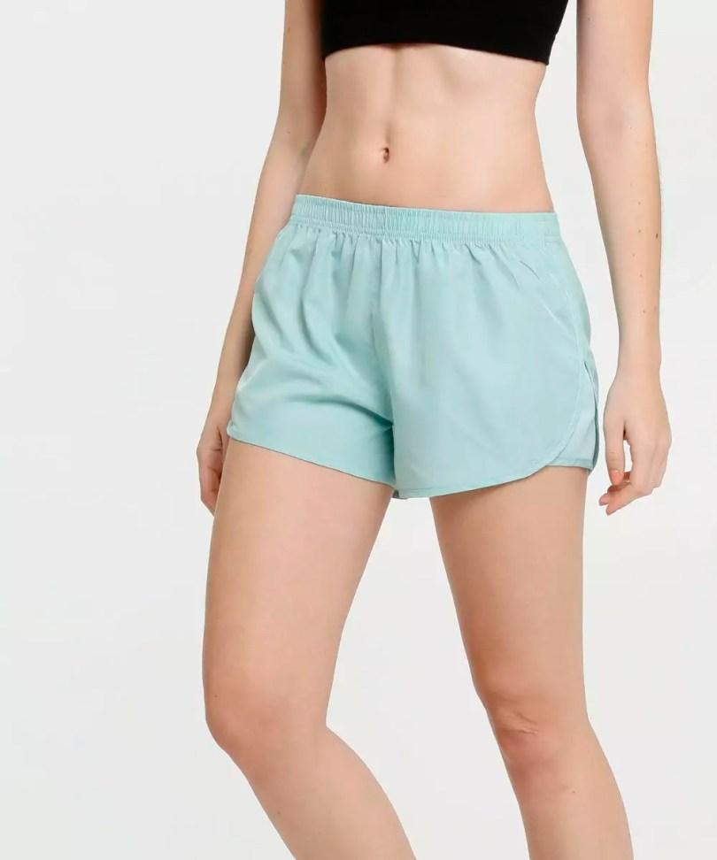 Shorts fitness verde água azul