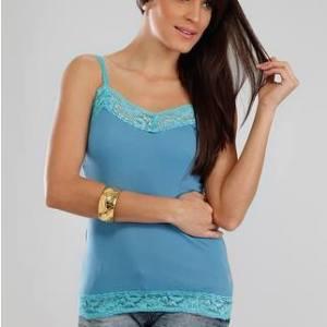 regata de renda azul clara turquesa feminina