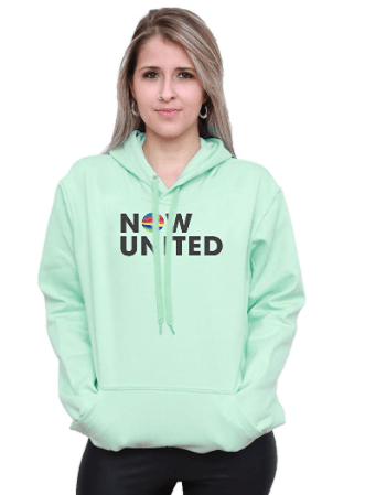 Blusa moletom capuz verde menta NOW UNITED
