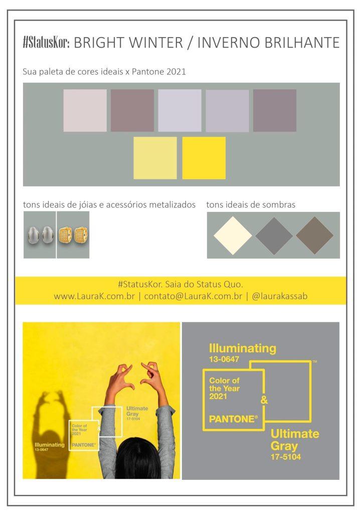 como usar cores pantone 2021 na paleta de inverno brilhante