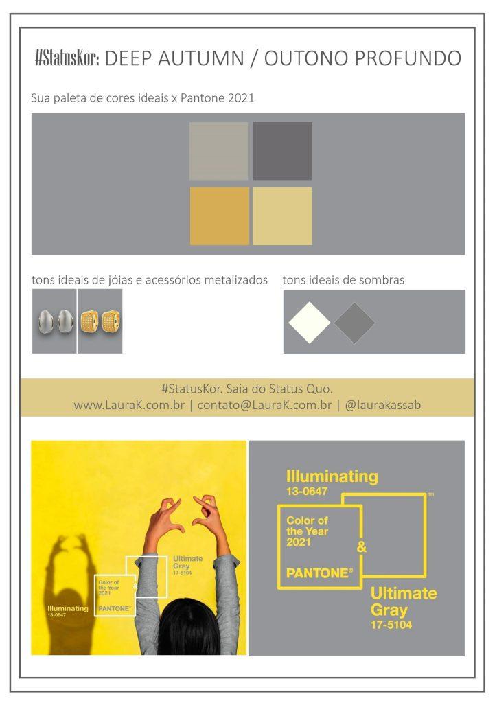 como usar cores pantone 2021 na paleta de outono profundo