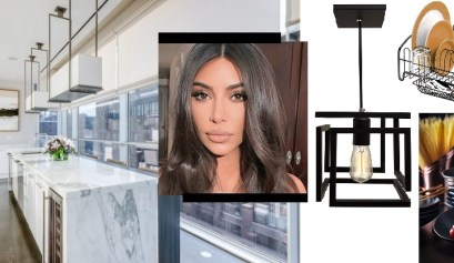 decoração da cozinha de kim kardashian
