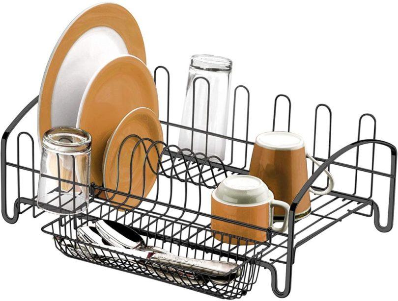 escorredor de louças e pratos onix preto