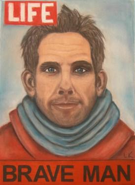 """""""Ben Stiller is a brave man"""", pastel, 70x50cm"""