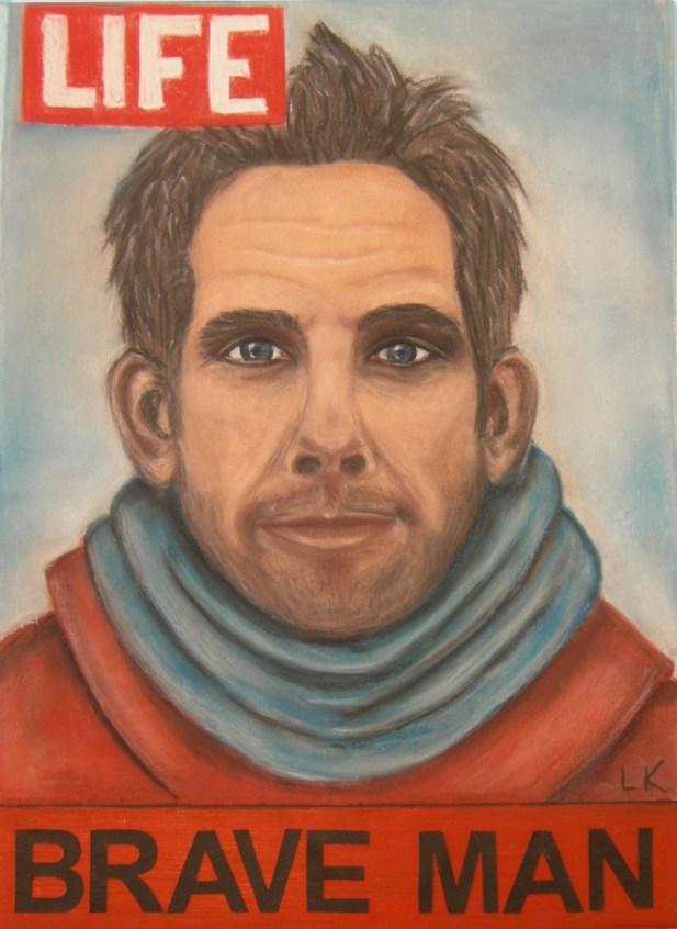 """Brave Ben Stiller"", pastel, 70x50cm"