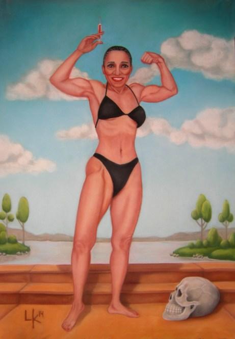 """""""El miedo de Ernestine"""", pastel, 100x70cm"""