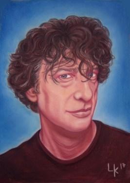 """Neil Gaiman"", 70x50cm"