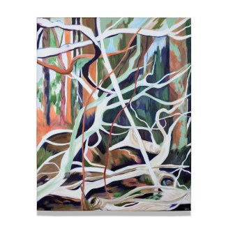 Vertical Sculptural Trees, acrylic on canvas, 80 x 100 cm/31.5 x 39 in., 2021, available on webshop