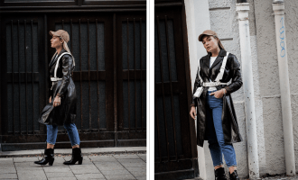 Lauralamode Fashion Blogger Fashionblogger Mantel Coat Herbst Herbsttrend Leather Coat Ledermantel Streetstyle Look Ootd Munich Berlin Deutschland