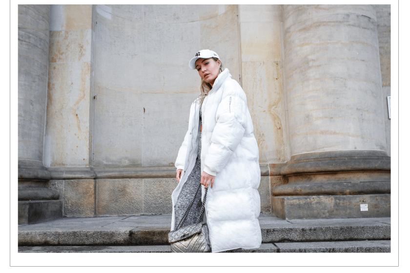 LAURALAMODE Outfit Fashion Fashionblog Daunenmantel Daunenjacke Trend2019 Fashion Trend 2019 Ootd Outfit Boohoo Nike Kurt Geiger New Era Berlin Munich