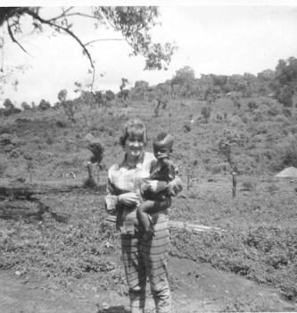 Elsie holding Buziyu