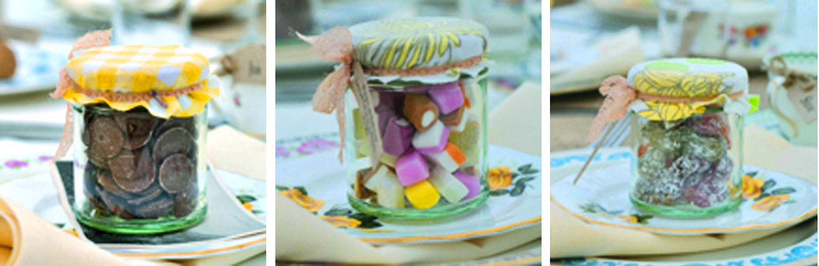 Sweet jar wedding favours vintage affordable