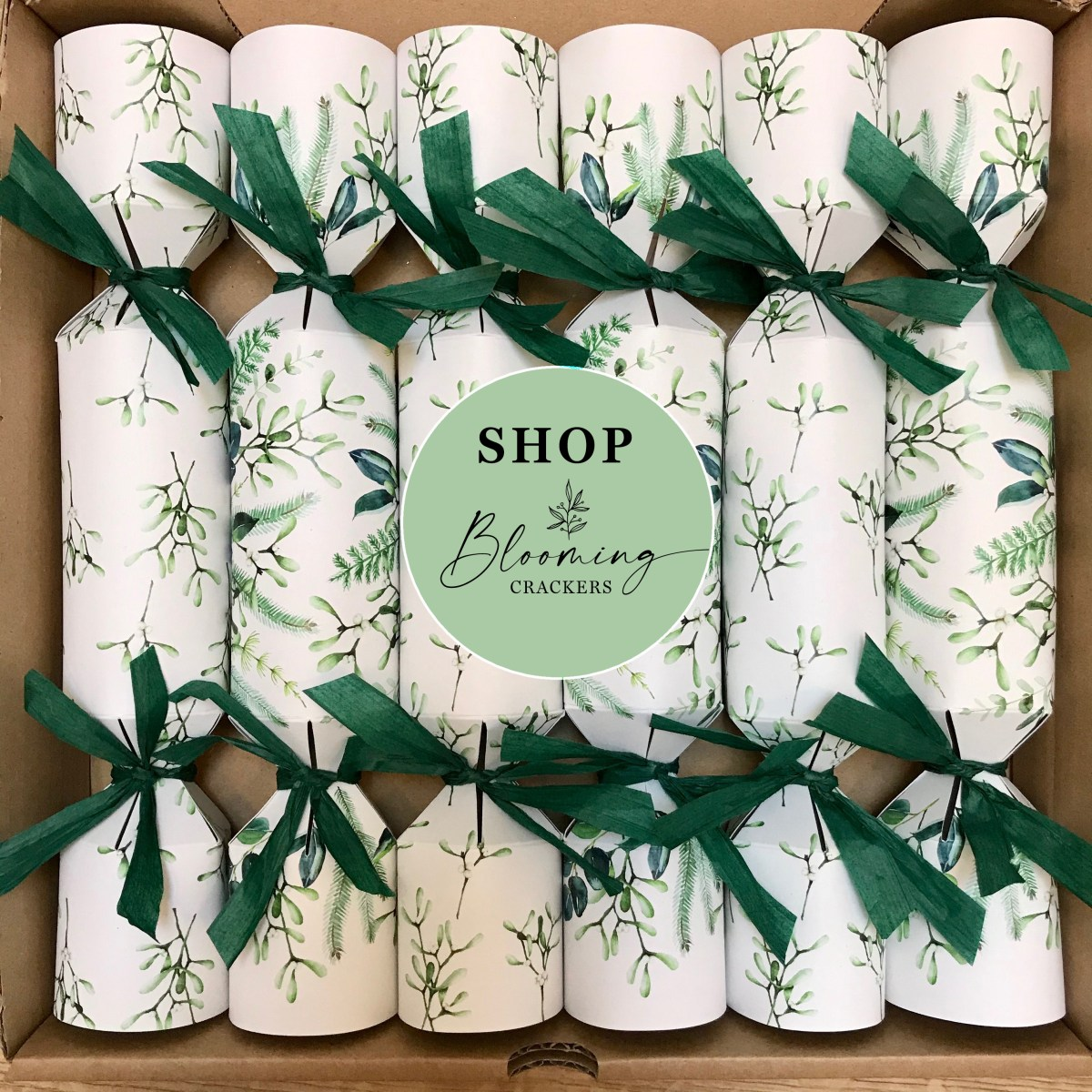 Eco Friendly Christmas Crackers - Blooming Crackers - Plastic Free - Sustainable - Recycled - Seed Packet Gifts - UK