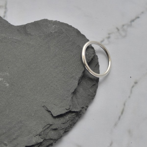 Silver stacking ring made in Hampshire