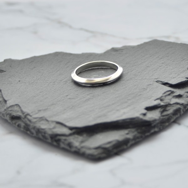 Silver handmade stacking ring made in Hampshire