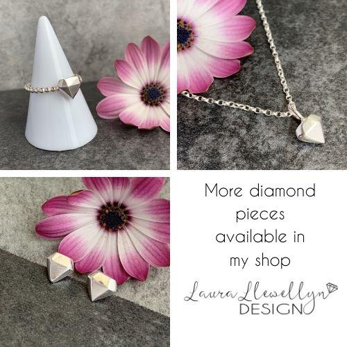 Silver diamond jewellery
