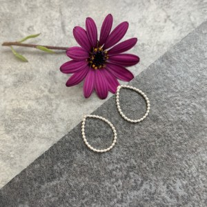 Small teardrop stud earrings