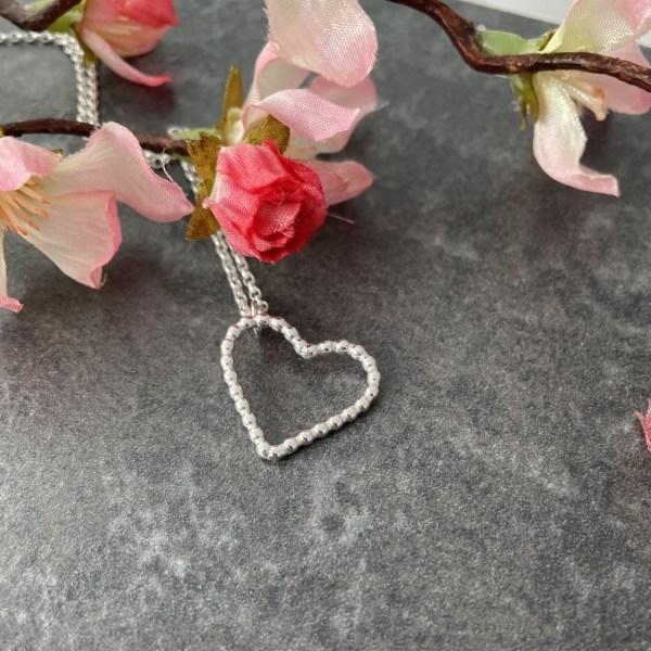 Silver heart pendant
