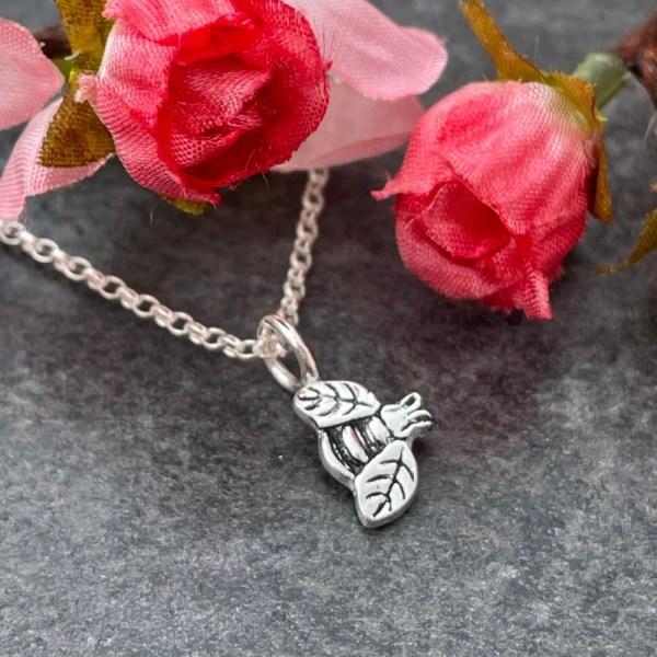 Silver bee pendant handmade by Laura Llewellyn Design