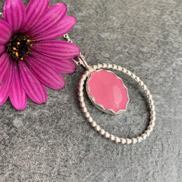 Pink gemstone pendant