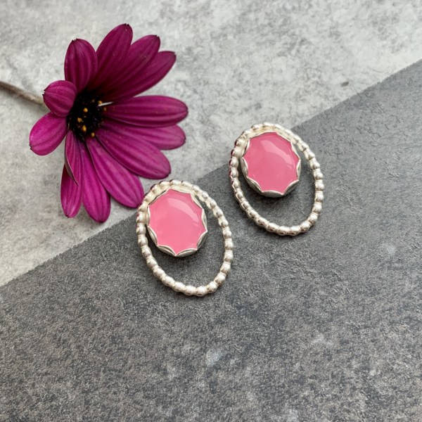 Pink Earrings